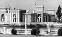 Одесса. Курорт Куяльник, летний кинотеатр. Фото Л. Штерна. Почтовая карточка. 1961 г.