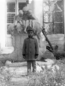 Фонтан «Молодость» перед зданием музея морского флота СССР. 1970-е гг.