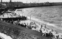 Одесса. Австрийский пляж у Карантинного мола. 1918 г.