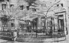 Садик во дворе дома № 24 по ул. К. Маркса. Фото в газете «Чорноморська комуна», 21 мая 1934 г.