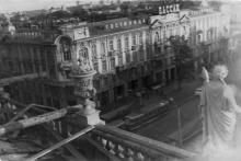 Вид на «Пассаж» с дома Либмана. Одесса. 1980-е гг.