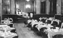 Гостиница «Одесса», ресторан. Фото в буклете «Hotel «Odessa». 1960-е гг.
