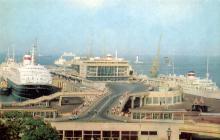 Одесский порт. Морской вокзал. Фото А. Маркелова. Набор фотооткрыток «Одесса». 1975 г.