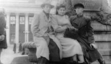 Вид от памятника Пушкину на здание городского совета. Одесса. 1951 г.