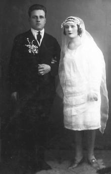 Свадебное фото с Полиной Михайловной Сенчиневич. 1932 г.