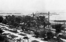 Парк под Николаевский бульваром. Одесса. 1943 г.