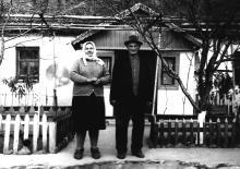 Родители Ивана Демьянова: Федор Иванович и Мария Дмитриевна. Новая Одесса, 1970 г.