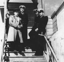 И.Ф. Демьянов крайний справа. 1954 г.