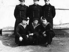 И.Ф. Демьянов слева вверху. 1954 г.