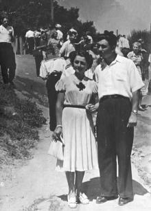 И.Ф. Демьянов с невестой, Г.И. Сенчиневич. Одесса. 1953 г.