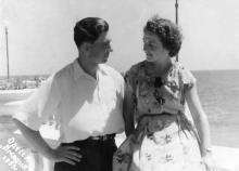 И.Ф Демьянов накануне свадьбы с Г.И. Сенчиневич. 1955 г.