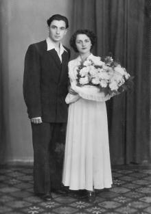Свадьба И.Ф. Демьянова с Г.И. Сенчиневич. 11 июля 1955 г.