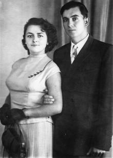 И.Ф. Демьянов с женой Г.И. Демьяновой (Сенчиневич). 1957 г.