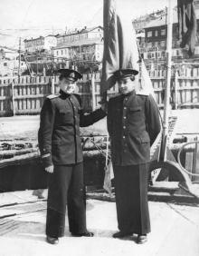 И.Ф. Демьянов справа. 1954 г.