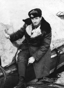 Иван Федорович Демьянов. Мыс Васильева, остров Парамушир. 20  апреля 1958 г.
