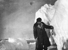 И.Ф. Демьянов. Зимовка на льдине. Пришлось охотиться. 1958 г.