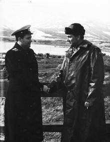 И.Ф. Демьянова благодарят за службу на острове Парамушир. 1958 г.