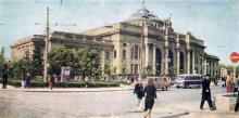 Одесса. Железнодорожный вокзал. Цветное фото А.В. Богданова. Почтовая карточка. 1967 г.