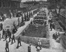 Одесса. Озелененный двор судостроительного завода имени А. Марти. Фото В. Шайхета. 1936 г.