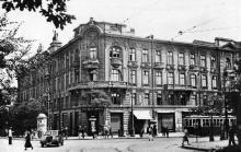 Одесса. Гастроном и гостиница «Пассаж». Фотография времен оккупации