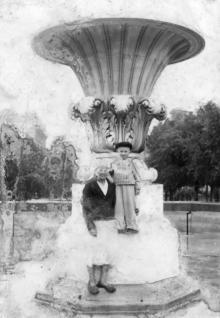Фонтан в сквере на площади Советской Армии. Одесса. 1947 г.