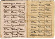 Удостоверение на право пользования радиоточкой. 6-я и 7-я страницы. 1938 г.