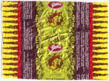 Фантик конфеты «Золотой теленок» АО «Одесса» (кондитерская фабрика им. Р. Люксембург)