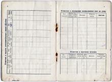 Личная книжка застрахованного безработного. 8-я и 9-я страницы. 1924 г.