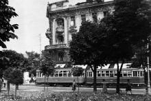 Вид на Пассаж с площади Советской Армии. Одесса. 1960-е гг.