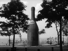 Открытая площадка ресторана на бульваре Фельдмана. Кадр из фильма «Человек с киноаппаратом» режиссера Дзиги Вертова. 1929 г.