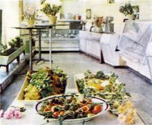 Кулинарный зал ресторана «Братислава». Фотография в буклете одесских ресторанов. 1970-е гг.