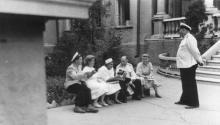 Одесса. Санаторий ОдВО на 11-й станции Б. Фонтана. 1951 г.