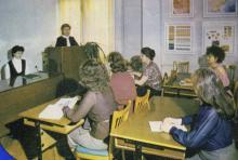 В ОЦНТИ. Фото Е.М. Лисаветского в буклете ОЦНТИ. Одесса. 1985 г.