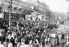 Одесса. Дерибасовская. Фото С. Крупника. 1990-е гг.
