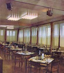 Ресторан «Театральный». Фотография в буклете одесских ресторанов. 1970-е гг.
