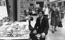 Александр Ивченко за работой. Одесса, Пассаж, 1985 г.