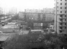 Ул. Бочарова, старый базарчик на месте Торгового дома