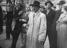 Александр Сергеевич Ивченко на демонстрации. Одесса. 1950-е гг.