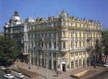 Дом Либмана. Фотография из набора «Одесса», изданного фирмой «Летописец». 1996 г.