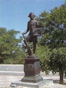 Памятник де Рибасу. Фотография из набора «Одесса», изданного фирмой «Летописец». 1996 г.