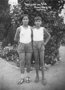В детском санатории им. 518 в Люстдорфе. Одесса. 1940 г.