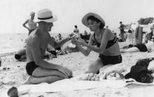 В Одессе на пляже. 1960-е гг.