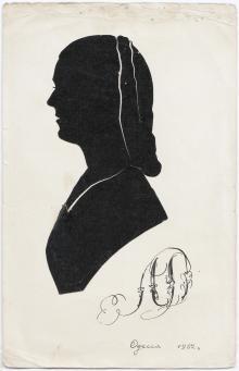 Работа силуэтиста. Одесса, 1952 г.