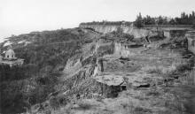 Одесса. Последствия оползня. Слева «Марьино». Снимок сделан 5 июля 1898 г.