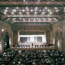 Одесса. В зале филармонии. Фото в книге «Одесса — Варна». 1976 г.