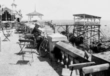Одесса. Ресторан на даче Дунина на Малом Фонтане. Фотография середины 1890-х гг.