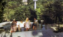 Одесса. Спуск в Отраду на пляж. Фото в книге «Одесса — Варна». 1976 г.