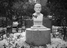 Одесса. Памятник Людвику Лазарю Заменгофу. Фотография 1980-х гг.