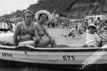На пляже на 10-й станции Фонтана. Одесса. 1965 г.»