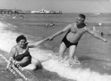 Одесса. На пляже в Черноморке. 1969 г.